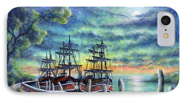 And We Shall Sail My Love And I IPhone Case by Retta Stephenson