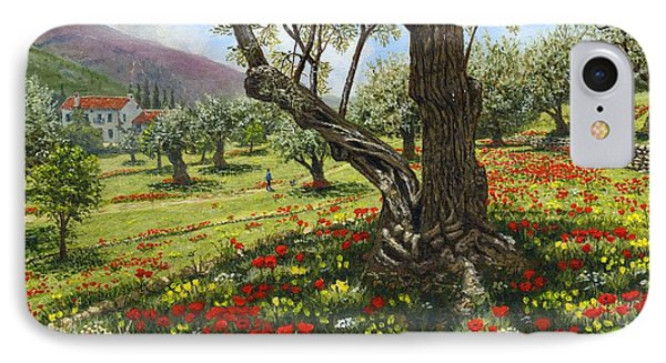 Andalucian Olive Grove Phone Case by Richard Harpum
