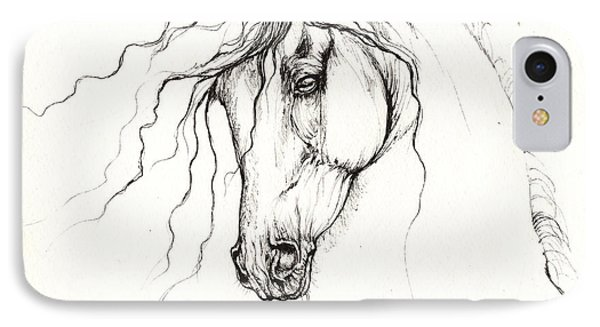 Andalusian Horse Drawing 04 11 2013 IPhone Case