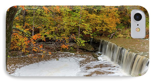 Anderson Falls On Fall Fork Of Clifty IPhone Case by Chuck Haney