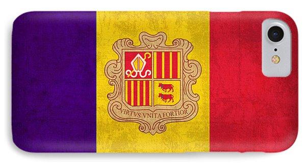 Andorra Flag Vintage Distressed Finish Phone Case by Design Turnpike