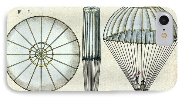 Andre Jacques Garnerins Parachute 1797 Phone Case by Science Source
