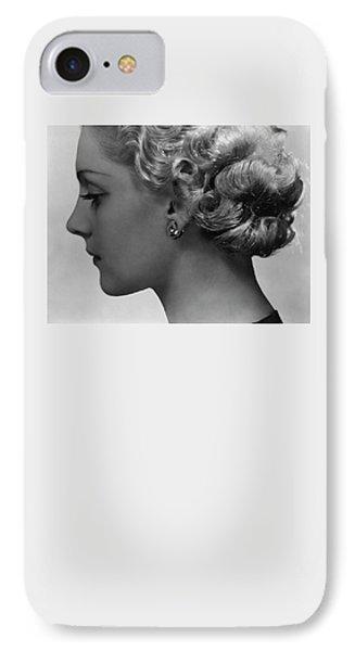 Andree Lorain Wearing Rene Boivin Ear Clips IPhone Case by George Hoyningen-Huene