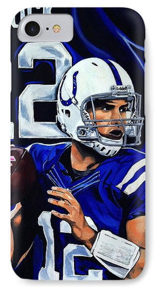 Andrew Luck IPhone 7 Case by Chris Eckley