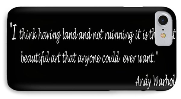 Andy Warhol Quote IPhone Case