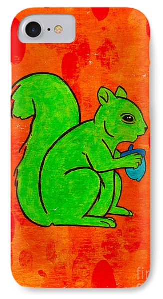 Andy's Squirrel Green IPhone Case by Stefanie Forck