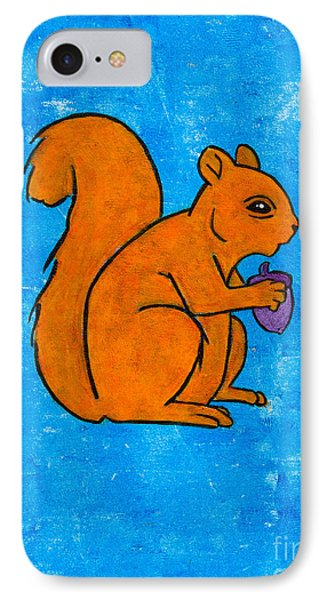 Andy's Squirrel Orange IPhone Case by Stefanie Forck
