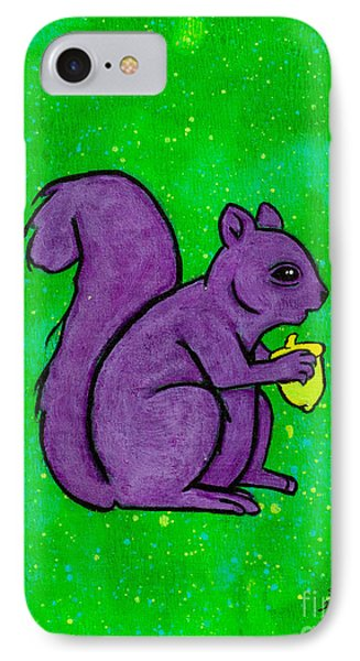 Andy's Squirrel Purple IPhone Case by Stefanie Forck