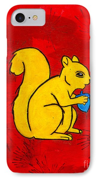 Andy's Squirrel Yellow IPhone Case by Stefanie Forck