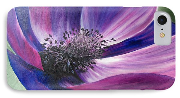 Anemone Coronaria IPhone Case by Claudia Goodell