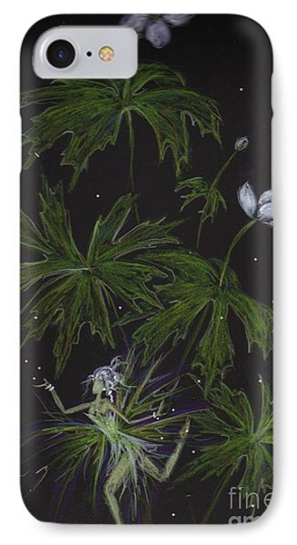 IPhone Case featuring the drawing Anemone by Dawn Fairies