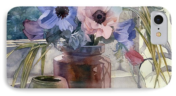 Anemones Phone Case by Julia Rowntree