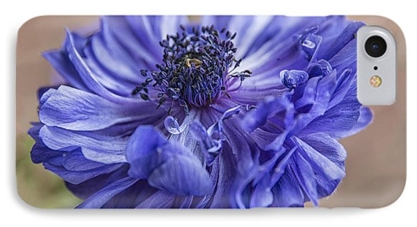 Anemone Blues I IPhone Case by Terry Rowe