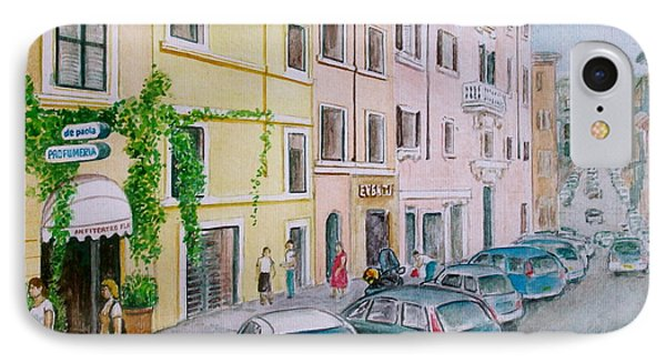 Anfiteatro Hotel Rome Italy IPhone Case by Frank Hunter