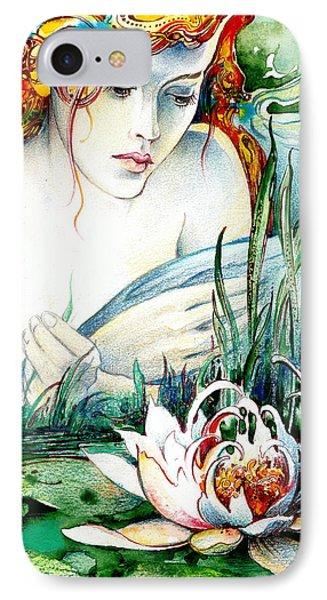 Angel And Lily IPhone Case by Anna Ewa Miarczynska