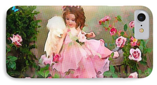 Angel And Baby  IPhone Case by Catherine Lott
