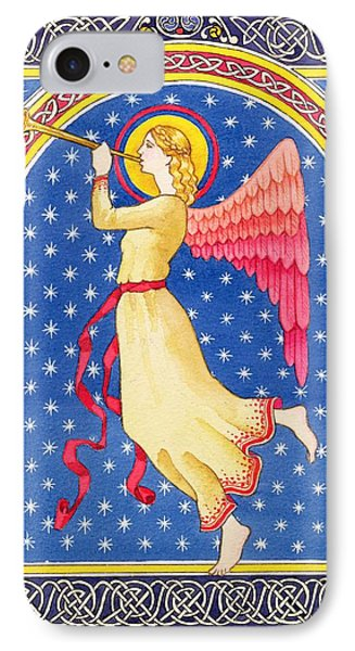 Angel Blowing Trumper IPhone Case by Lavinia Hamer