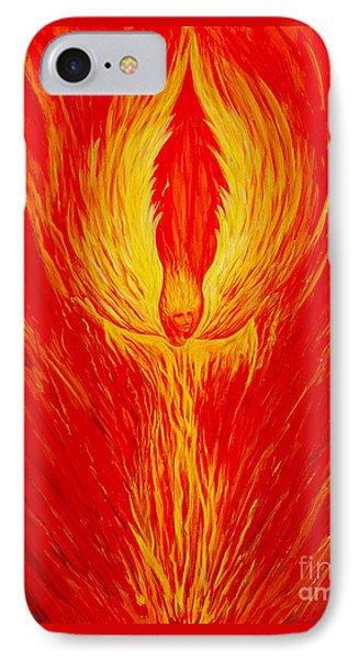 Angel Fire IPhone Case by Nancy Cupp