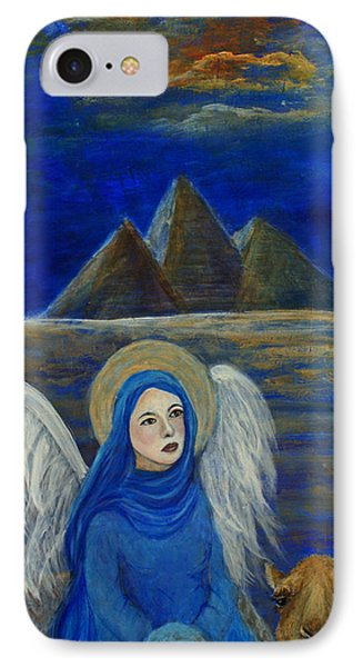 Angel From Eygpt Called Lapis Lazueli Phone Case by The Art With A Heart By Charlotte Phillips