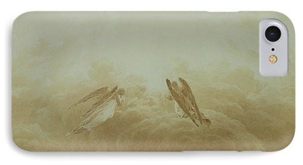 Angel In Prayer IPhone Case by Caspar David Friedrich