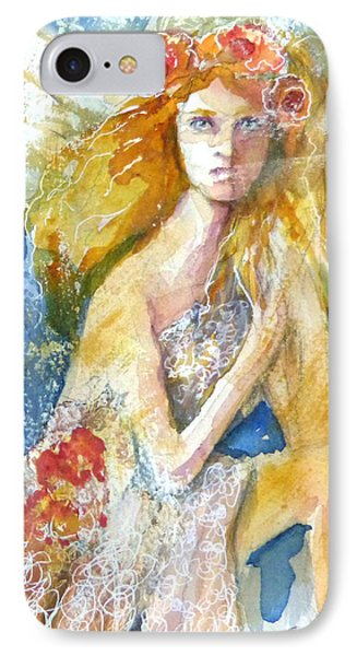 IPhone Case featuring the painting Angel In Waiting by P Maure Bausch