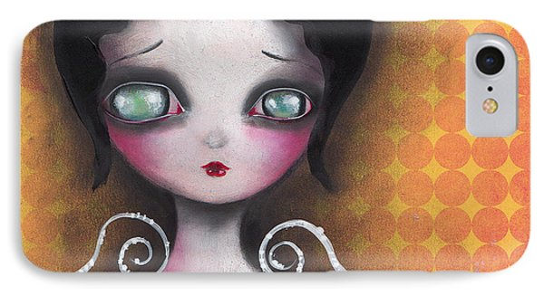 Angel In Yellow IPhone Case by  Abril Andrade Griffith