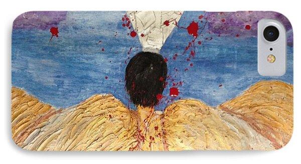 Angel Losing Its Wings - Fallen 01 IPhone Case by Edward Paul