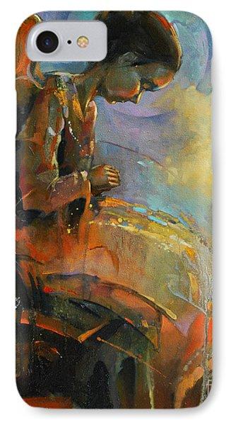 Angel Meditation Phone Case by Michal Kwarciak