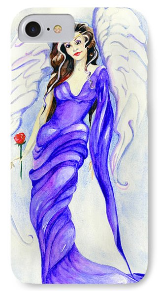 IPhone Case featuring the painting Angel by Nadine Dennis