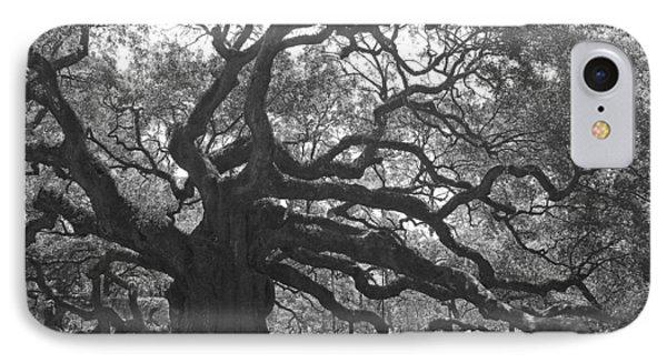 Angel Oak II - Black And White IPhone Case
