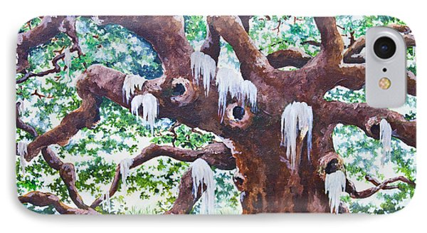 IPhone Case featuring the painting Angel Oak by Melissa Sherbon