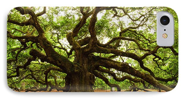 Angel Oak Tree 2009 IPhone Case by Louis Dallara