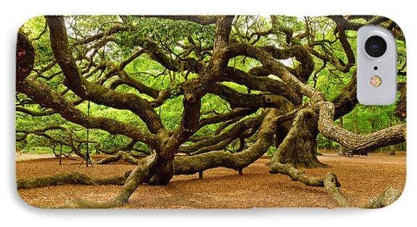 Angel Oak Tree Branches Phone Case by Louis Dallara