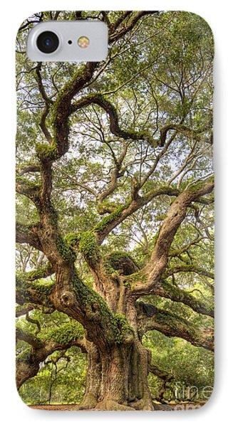 Angel Oak Tree Johns Island Sc IPhone Case by Dustin K Ryan