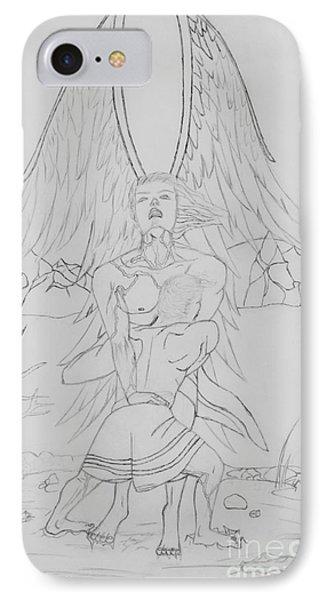 Angel Of God Struggle IPhone Case