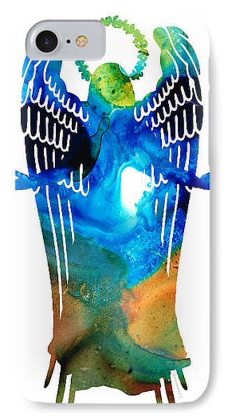 Angel Of Light - Spiritual Art Painting IPhone Case by Sharon Cummings