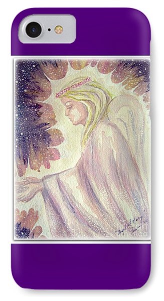 IPhone Case featuring the painting Angel Of Mercy by Leanne Seymour