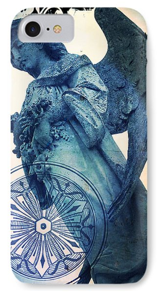 Angel Of Peace - Art Nouveau IPhone Case by Absinthe Art By Michelle LeAnn Scott