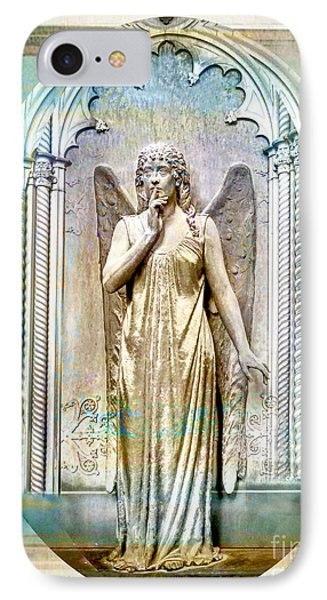 Angel Of Silence.genoa IPhone Case by Jennie Breeze