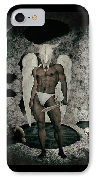 Danse Macabre Angel IPhone Case by Quim Abella