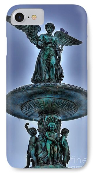 Angel Of The Waters Fountain - Bethesda IIi IPhone Case by Lee Dos Santos