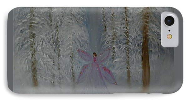 Angel Of Winters Past IPhone Case by Sherry Flaker