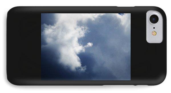 Cloud Angel Kneeling In Prayer IPhone Case by Belinda Lee