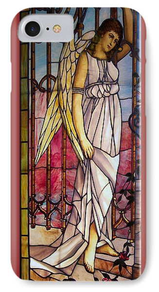 Angel Stained Glass Window Phone Case by Thomas Woolworth