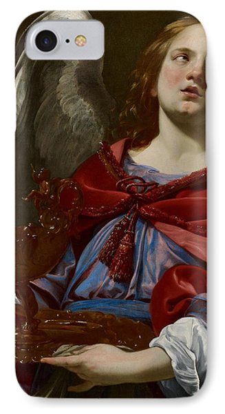Angel With Attributes Of The Passion Phone Case by Simon Vouet