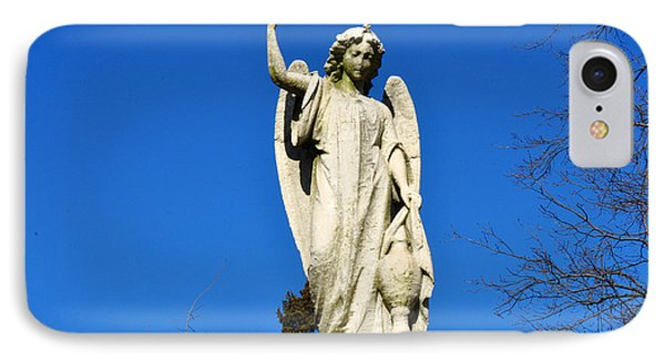 Angel With Blue Sky IPhone Case by Diane Lent
