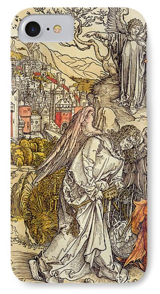 Angel With The Key Of The Abyss IPhone Case by Albrecht Durer or Duerer