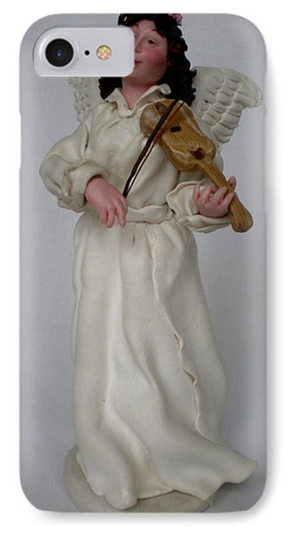 Angel With Violine Phone Case by Natalia Elerdashvili