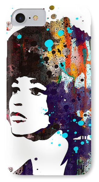 Angela Davis IPhone Case by Watercolor Girl