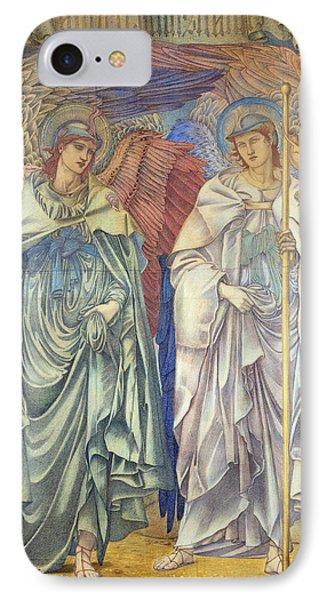 Angeli Ministrantes IPhone Case by Sir Edward Coley Burne-Jones